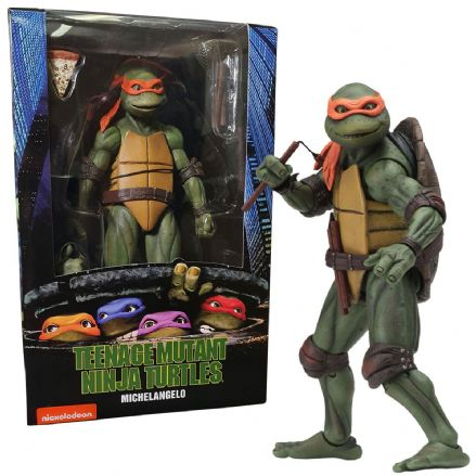 "NECA Teenage Mutant Ninja Turtles 1990 Movie 7"" Scale Action Figure - Michelangelo"